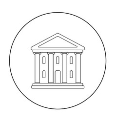 Theatre building icon in outline style isolated on vector