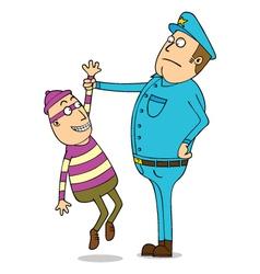 Thief is under arrest vector