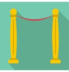 Two pillars icon flat style vector