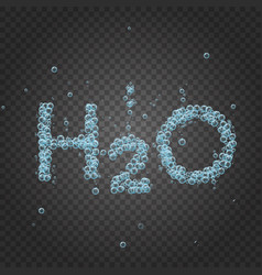 water bubble background h2o vector image vector image