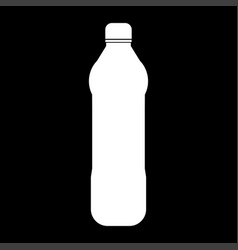 Water plastic bottle the white color icon vector