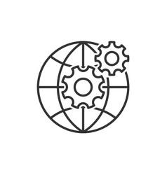 Web development line icon vector