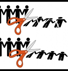 scissors cut vector image