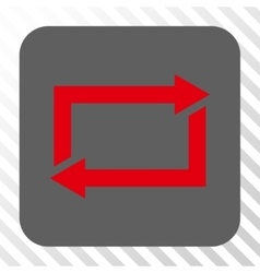 Exchange arrows rounded square button vector