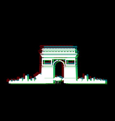 Isolated paris cityscape vector