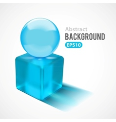 Abstract background with transparent glass shapes vector
