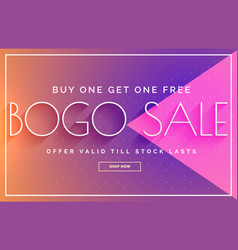 Sale banner design with vibrant color template vector