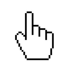 Modern hand cursor icon on white background vector