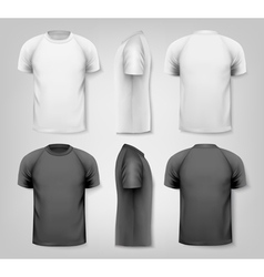 Colorful male t-shirts design template vector