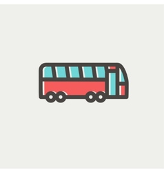 Tourist bus thin line icon vector