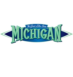Michigan the great lakes state vector