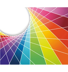 Rainbow cell background vector