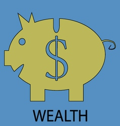 Wealth icon flat design vector