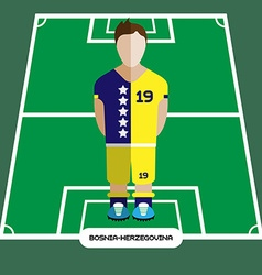 Computer game bosnia and herzegovina football club vector