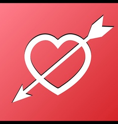 Heart arrow love vector