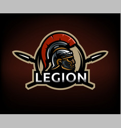 a warrior of rome a legionary against the vector image vector image
