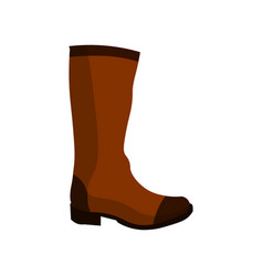 boots icon hight leather on a white background vector image