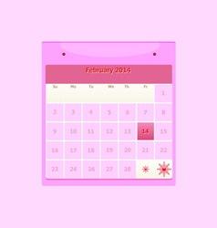Design schedule monthly february 2014 calendar vector image vector image