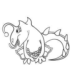 Dragon without color vector