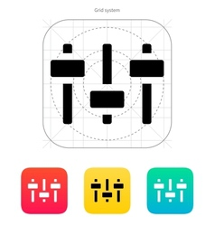 Equalizer icon Volume control vector image