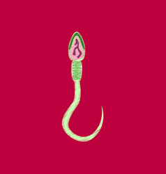 Flat shading style icon spermatozoon vector