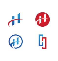 h letter logo template vector image