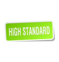 High standard square sticker on white vector