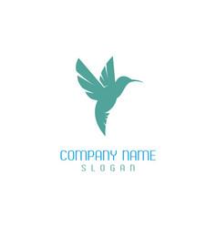 hummingbird design vector image vector image