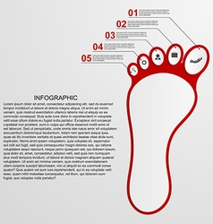 Infographic shaped foot design concept vector image vector image