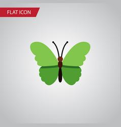 isolated archippus flat icon milkweed vector image