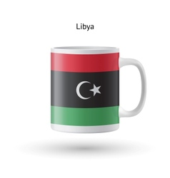 Libya flag souvenir mug on white background vector