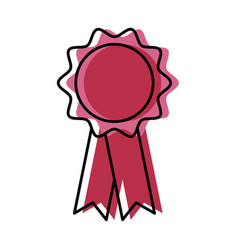 medal award ribbon vector image