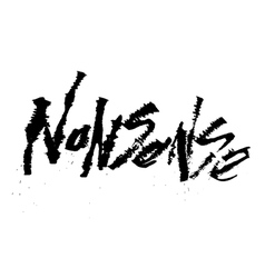 Nonsense cola pen calligraphy font vector