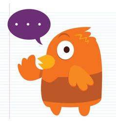 Orange Bird vector image vector image