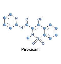 piroxicam is a anti-inflammatory drug vector image
