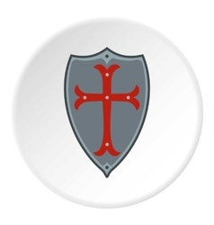 Protection shield icon flat style vector image vector image