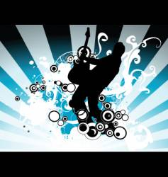 Rock music illustration vector