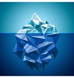 Snow iceberg mountain in polygonal style vector