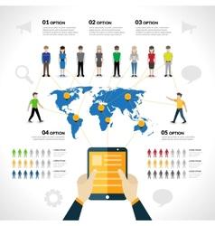 Social network infographics vector