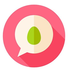 Speech Bubble with Easter Egg Circle Icon vector image vector image