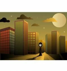 Twilight city vector