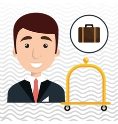 Bellman hotel employee icon vector