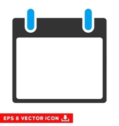 Empty Calendar Leaf Eps Icon vector image
