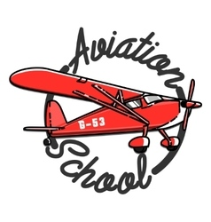 Color vintage aviation emblem vector