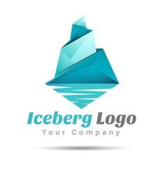 Triangle iceberg Volume Logo Colorful 3d Design vector image