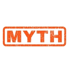 Myth rubber stamp vector