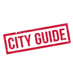 City guide rubber stamp vector