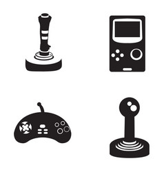 set of joysticks vector image