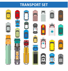 Transportation colorful collection on white vector