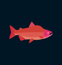 in flat style pink salmon vector image